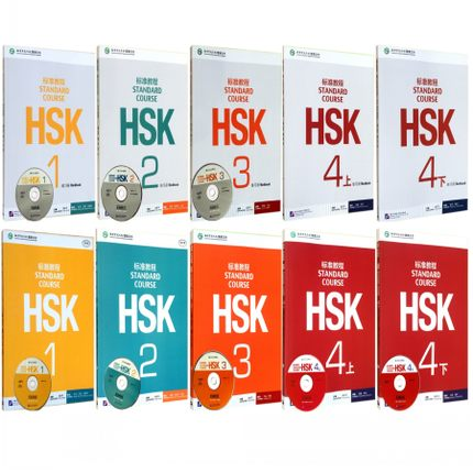 10PCS/LOT  Chinese English Bilingual Exercise Book HSK Students Workbook And Textbook :Standard Course HSK 1-4
