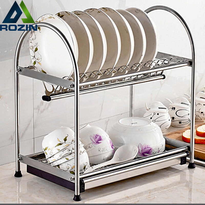 Stainless Steel Deck Mount Dish Drying Fixing Rack Ladle Cup Spoon Shelf Sink Kitchen Organizer stainless steel single deck glass shelf