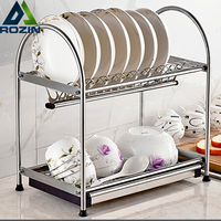 Stainless Steel Deck Mount Dish Drying Fixing Rack Ladle Cup Spoon Shelf Sink Kitchen Organizer
