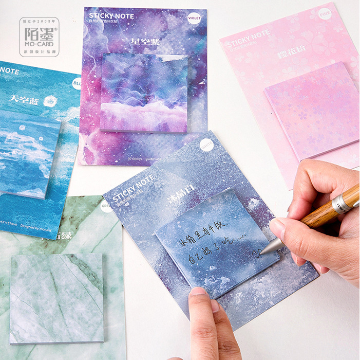 1PCS New Creative Natural Primary Color Memo Pad Paper Post Sticky Notes Notepad Stationery Papeleria Office School Supplies