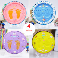 2Colors Baby Hand And Foot Printing Mud DIY Souvenir Children's Birthday Babys Gift Box Send Roller Numbers For Newborn