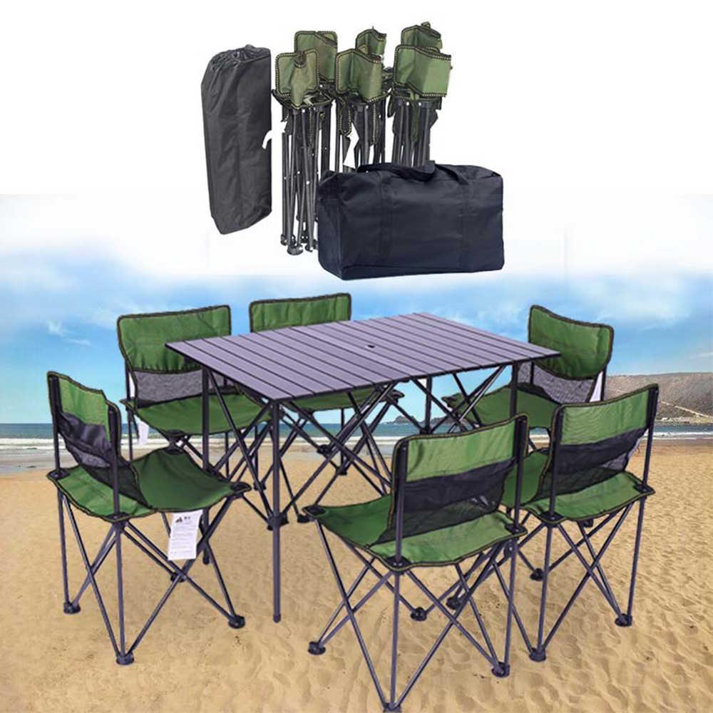 стол складной стол с стульями и  для пикника   стол раскладной стол складной туристический стол  Туристический складной стол со стульями походный  отдых на природе стул на рыбалку