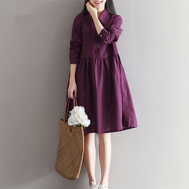 25d526c6b19 Новый большой Размеры Для женщин осенние платья осень-зима 2018 свободные  Мори девушки Лолита Длинные