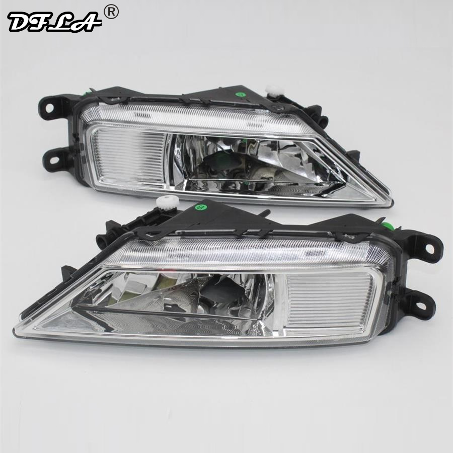 Car Light For VolksWagen VW Tiguan 5N 2016 2017 2015 Car-Styling Front Bumper Halogen Fog Light Fog Lamp With Bulbs right side for vw polo vento derby 2014 2015 2016 2017 front halogen fog light fog lamp assembly two holes