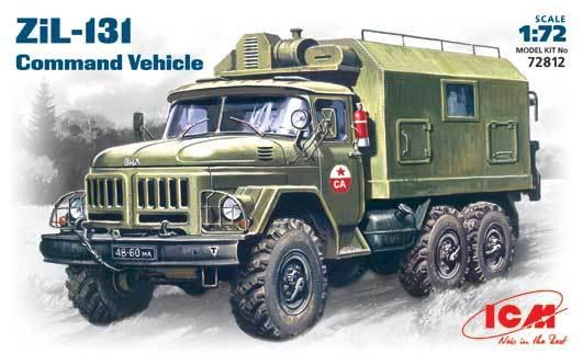ICM 72812 Zil-131 Soviético caminhão de comando 1/72 kit modelo de plástico