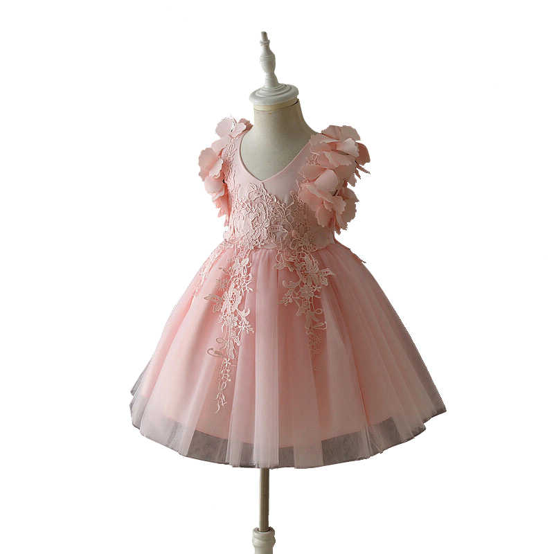 19cdae6ced45d Christmas 3d lace flower Girl Dresses For 3 - 14 yrs Teenager Girls  Graduation Party Wear