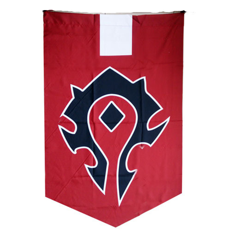 WOW World Of Warcr Alliance Horde Banner Embroidery Flag Dacron Cosplay Accessory Movie Warcraft