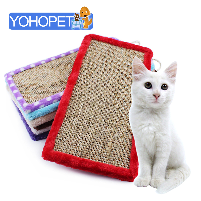 new arrival Sisal cat scratching post board high-quality cat toys Colorful cat scratching bed about 40*20*1cm Toys For Pets