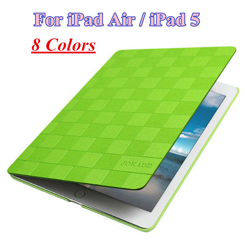 New Fashion Flip Smart Cover for iPad Air iPad 5 PU Leather Case Ultra Thin Tablet Stand Book Cover for Apple iPad Air Case 9.7  g cover hi quality fashion flip open pu leather stand case w pocket for ipad air ipad 5 black
