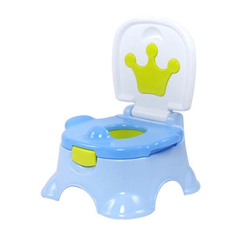 Baby Cartoon Crown Training Toilet Potty Girl Boys Travel Carrying Urinal Pee Toilet Trainer Penico Babies Girl Bathroom Urinals