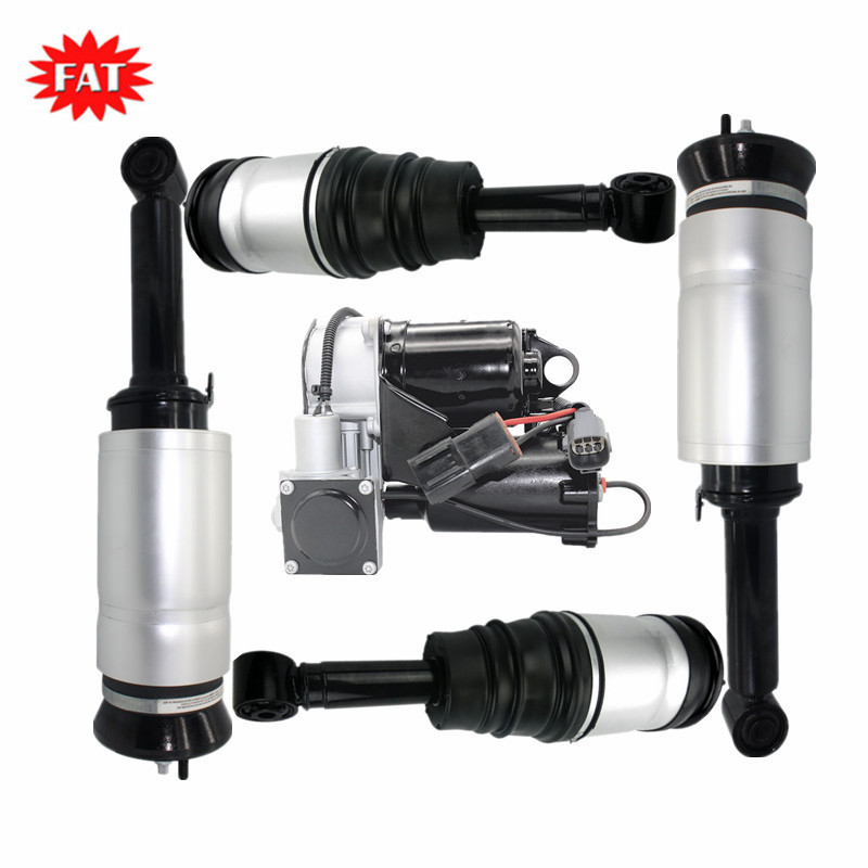 5 PCS/Set Front & Rear Air Suspension Shock Absorber + Air Compressor For Land Rover Discovery 3 4 Range Rover Sport Without ADS