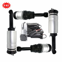 5 PCS/Set Front Rear Air Suspension Shock + Air Suspension Compressor For Land Rover Discovery 3 4 Range Rover Sport without ADS