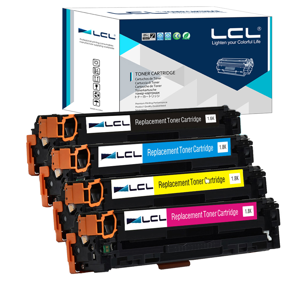LCL Canon CRG731 CRG 731 CRG 731 4 Pack Laser Toner Cartridges Compatible For 7100 MF8210