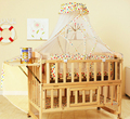 Nenhuma Pintura Saudável Do Bebê Berço De Madeira Cama Multifuncional Bebê Recém-nascido cama Grande Espaço Variam de Mesa Balanço Do Berço Do Bebê Cercadinho 5 PCS C01