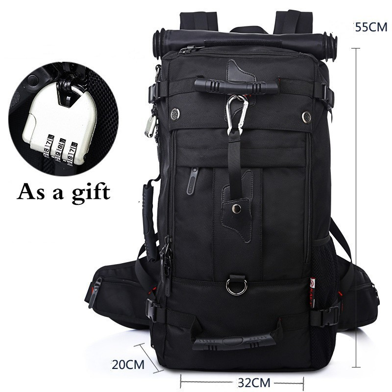 40L 50L Outdoor Large Capacity Waterproof Hiking Backpack Men Women Climbing Sports Travel Luggage Bag Oxford