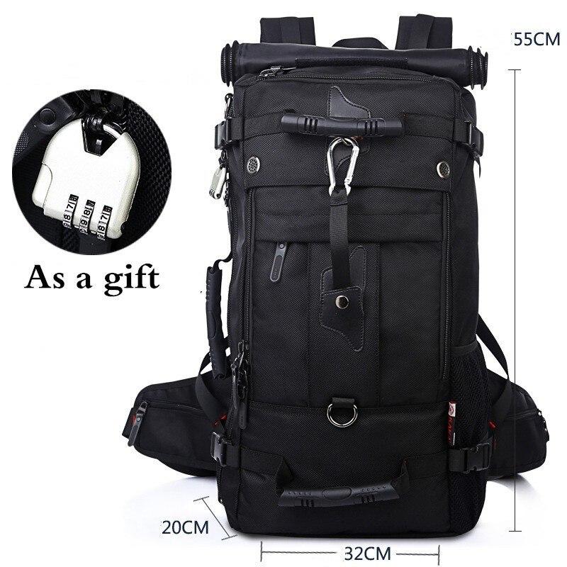 40L 50L extérieur grande capacité étanche randonnée sac à dos hommes femmes escalade sport voyage bagages sac Oxford résistant à l'usure sac