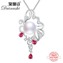 sterling silver 925 natural pearls pendant accessories pearl necklace for women