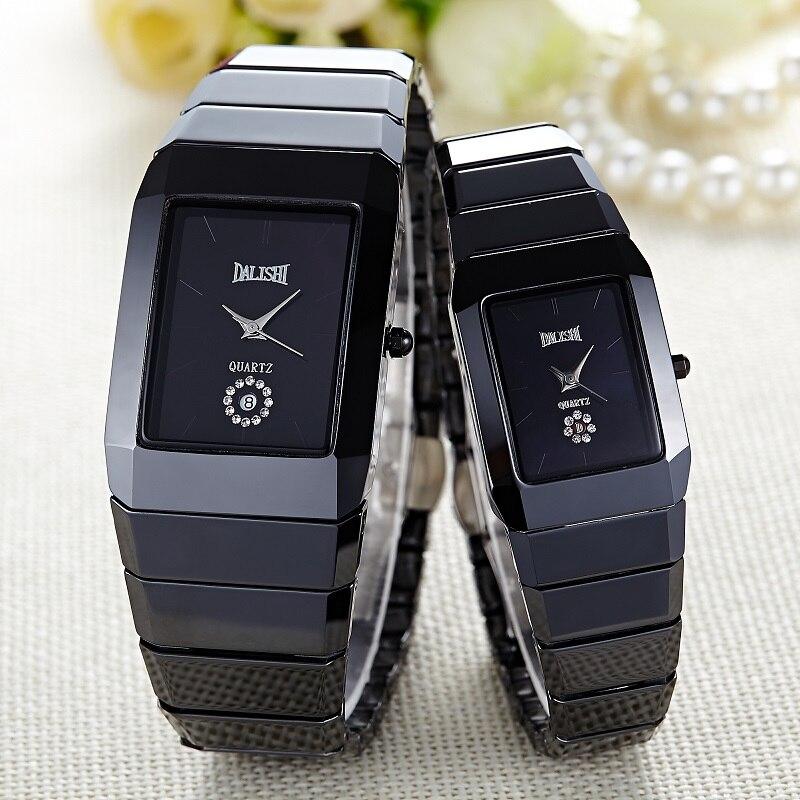 Dalishi Лидирующий бренд Керамика Для мужчин/Для женщин любителей Смотреть Montre Homme кварц Повседневное час Reloj Mujer Diamond Dial часы Relojes hombre