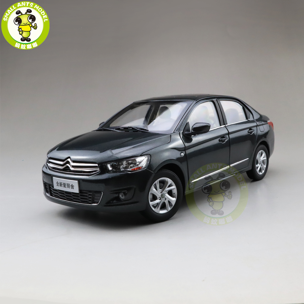 1/18 Citroen C-Elysee CElysee <font><b>Diecast</b></font> <font><b>car</b></font> <font><b>model</b></font> Toys Kids Boy Girl Birthday GIFTS Gray image