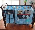 8 unidades del pesebre infantil kids room dormitorio bebé set nursery bedding marinero azul cuna bedding set para bebé recién nacido