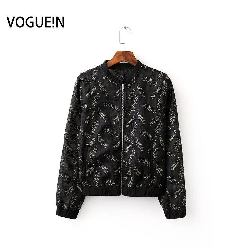 Jacken & Mäntel Basic Jacken Voguein Neue Womens Casual Geometrische Print Zipper Leichte Bomber Jacke Mantel Großhandel
