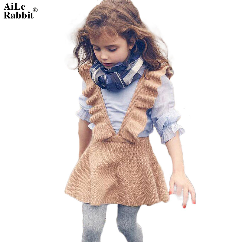 2018 Promotion Vestidos Mujer Aile Rabbit Autumn Girls Dress Girl Clothing Knit Sweater Kids For Robe Fille Beautiful Vestidos женские блузки и рубашки waqia 2015 cueca camisas femininas vestidos vestidos blusas femininas s xxl