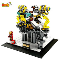 Bevle SY825 Marvel Iron Man Tony Stark Remove Armor Building Blocks Compatible with LEPIN Brick Toy Gifts