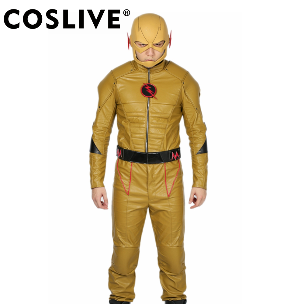 Coslive The Flash Reverse-Flash Costume Outfit COSplay Hero Uniform Fancy Suits The Flash Reverse-Flash Cosplay Costume the flash volume 4 reverse