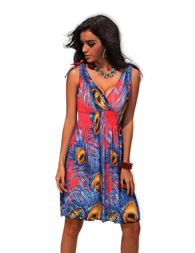 M XXL Plus Size 22 Colors 2014 New Fashion Women Sexy Floral Printed Dress  Maxi Bohemian Beach Dress Summer Casual Dress 4152-in Dresses from Women s  ... 3ea47d3362f4