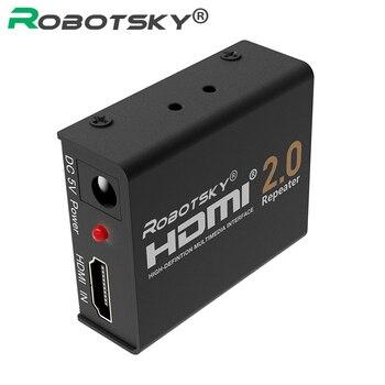 60 Mt HDMI 2,0 Splitter Repeater HDMI Extender Signalverstärker Booster Adapter 4 Karat/2K @ 60Hz HDCP 2,2 EDID für HDTV PS4 DVD