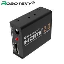 60M HDMI 2 0 Splitter Repeater HDMI Extender Signal Amplifier Booster Adapter 4K 2K 60Hz HDCP
