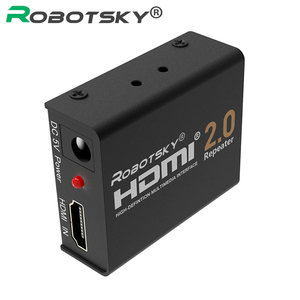 60M HDMI 2.0 Splitter Repeater HDMI Extender Signal Amplifier Booster Adapter 4K/2K@60Hz HDCP 2.2 EDID for HDTV PS4 DVD(China)