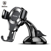 Baseus Gravity Car Phone Holder Universal Sucker Suction Cup Mount Holder For iPhone X 8 7 Samsung Mobile Phone Holder Stand