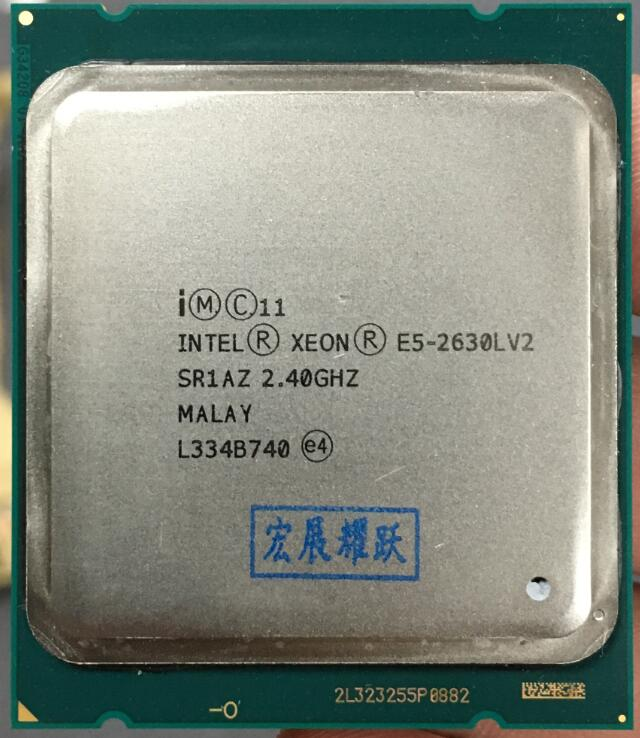 Processeur intel xeon E5 2630L V2 CPU 2.8 LGA2011 Six Core processeur de serveur e5-2630L V2 E5-2630LV2