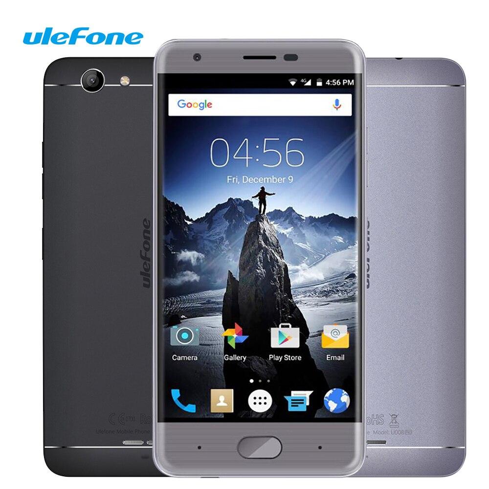 Цена за Ulefone U008 Pro Смартфон 5.0 Дюймов HD1280X720 2 Г RAM 16 Г ROM 4 Г Разблокировать Телефон MTK6737 Quad Core Android 6.0 3500 мАч Мобильный телефон