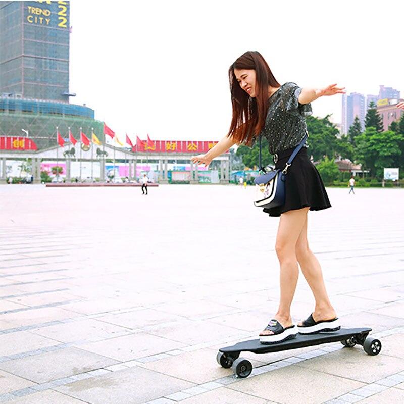Hands free Foot sensor 4 wheel electric skateboard body control, no need remote