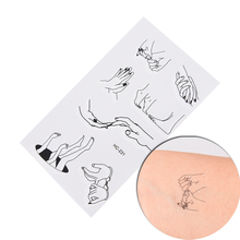 1 Sheet of Temporary Tattoo Sticker Fake Flash Tattoo Sticker Fingers Toes Body Art Sexy Waterproof Temporary Tattoo 10.5*6cm