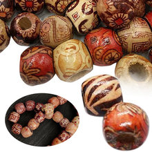200pcs 12mm Mixed Wooden Beads Large Hole Boho Wooden Beads DIY Bracelet Macrame Necklace Hair Extension Dreadlocks Crafts Tools(China)