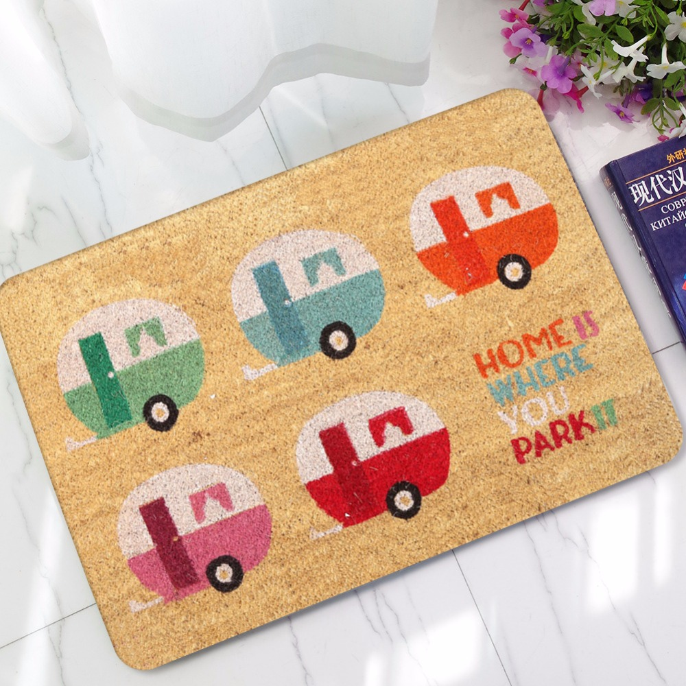 Image 2 - CAMMITEVER Carpet Anti slip Floor Mat Cartoon Bus Home Rugs Print Bathroom Kitchen Door Mat-in Rug from Home & Garden