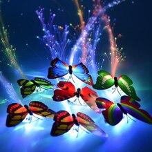 5 шт. светодиодные, мигающие, для волос оплетка люминесцентное свечение, заколка для волос волокна оплетка из бабочек; Fraid подарок на день рождения игрушка бордовый Набор для творчества, обучающая игрушка для детей