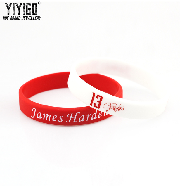 2b218b6277c0 1Piece James Harden Collector s Edition No.13 Signature Silicone Bracelets  Lovers  Men Student Basketball Sport Fans Wristband