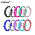 Новое 3 мм FDA пищевое Силиконовое кольцо WarBLade, гипоаллергенное перекрестное гибкое волнистое Силиконовое кольцо на палец для женщин, обруча...