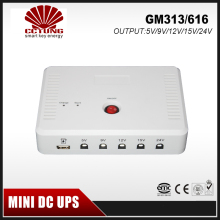SK313 Mini Portable UPS with 5V/9V/12V/15V/24VDC Interface & USB Port Max 24W 1A Current Output & 7800mAh Lithium Battery Built