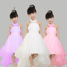 DM In Stock Cheap First Communion Dresses For Girls 2017 Flower Beaded Waist Wedding Flower Girl Gown Holy Pageant Party Dress