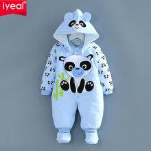 Толстые теплые детские Сиамские одежды осень/зима ребенка зимой пальто 6 новорожденных 0-1 пальто в течение 3 месяцев