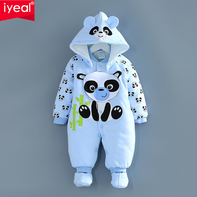 Thick warm baby Siamese clothes autumn/winter baby winter coat 6 newborn 0-1 coat for 3 months