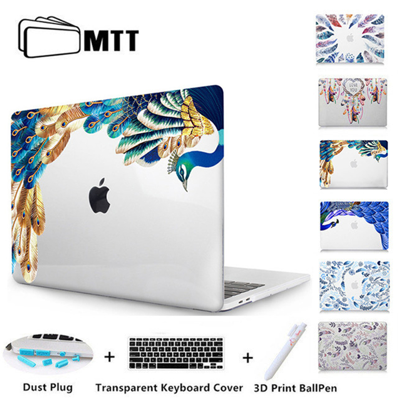 MTT Peacock Feather Printed Cover For Macbook Air Pro 11 12 13 15 Retina Crystal Hard Case for Mac book 13.3 inch Laptop Sleeve mtt flowers crystal hard case for apple macbook air pro retina 11 12 13 15 floral cover for mac book pro 13 3 inch laptop sleeve