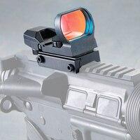 Ambiti di caccia Ottica Red Dot Sight 20mm Rail Cecchino Pistola Airsoft Fucili Ad Aria Reflex Cannocchiali Da Puntamento Holographic Sight