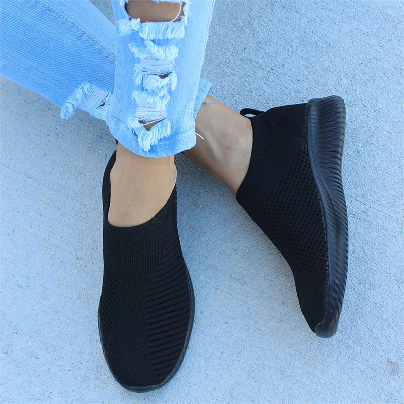 Women Casual Flats Slip On Loafers Light Female Mesh Sneakers Breathable Platform Shallow Shoes Ladies Leisure Footwear Spring(China)