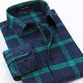 2017 новый мужской 100% хлопок осень зима с длинными рукавами рубашки Щеткой Фланелевые Рубашки оптом повседневная мужская плед рубашки высокого качество